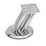 Опора для мебели 127 Н60мм сталь хром