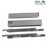 Двустенный металлический ящик 215 H86мм L350мм серый