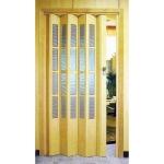 Остекленная - Дверь гармошка остекленная пластиковая.Цвет и комплектацию уточняйте в отделе продаж.